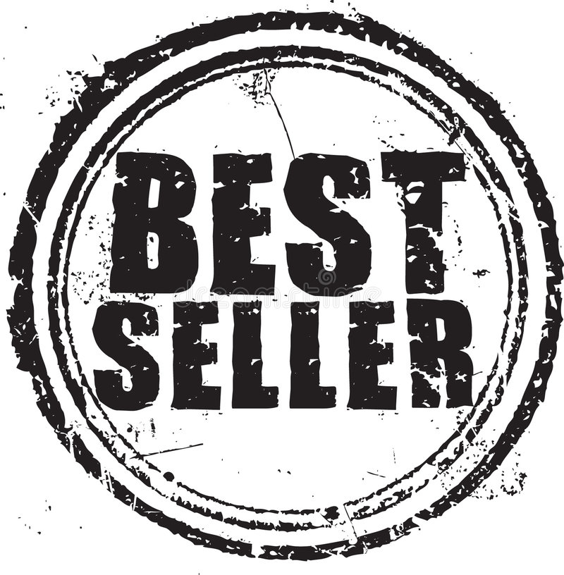 Estampille du best-seller illustration de vecteur