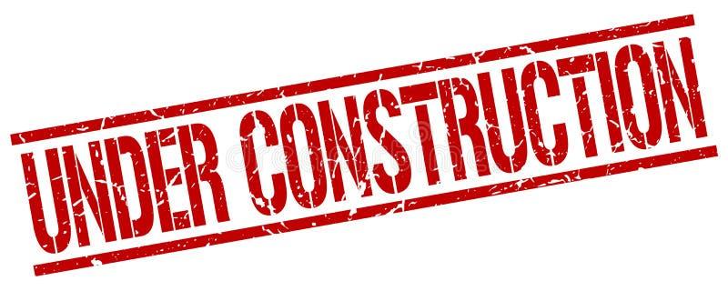 Estampille en construction illustration stock