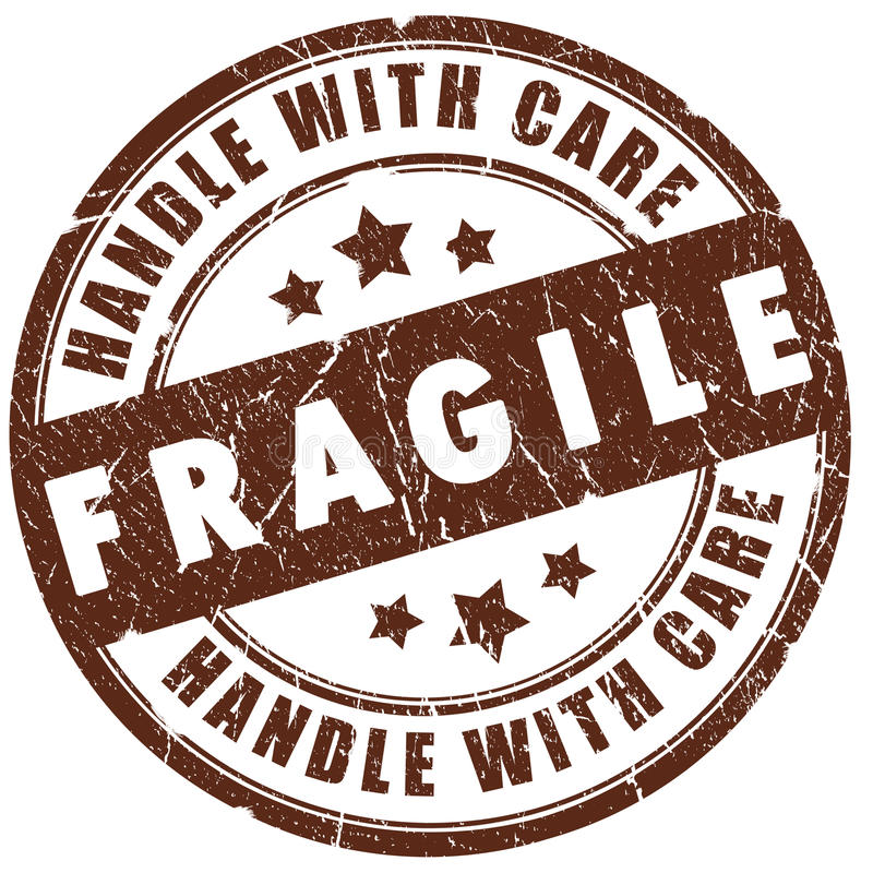 Estampille fragile illustration stock