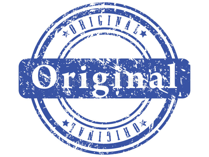 Estampille grunge bleue abstraite. illustration de vecteur