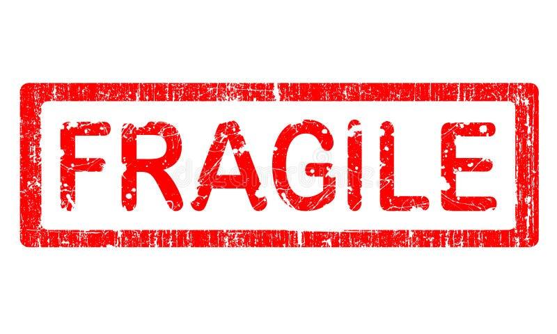 Estampille grunge de bureau - FRAGILE illustration stock