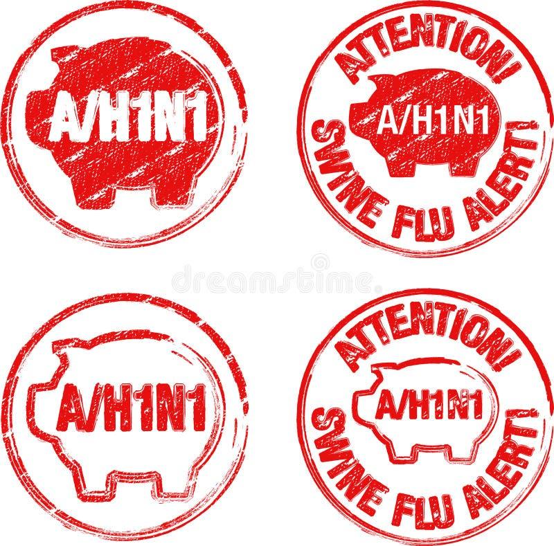 Estampille h1n1 illustration de vecteur