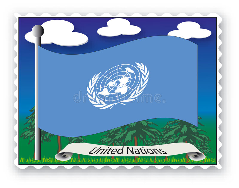 Estampille les Nations Unies illustration stock