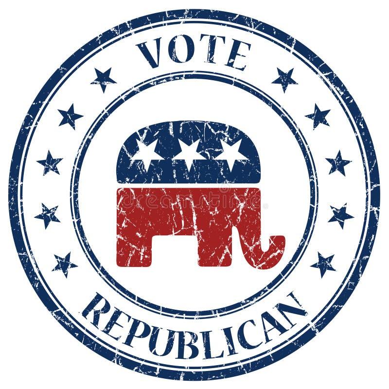 Estampille républicaine illustration stock