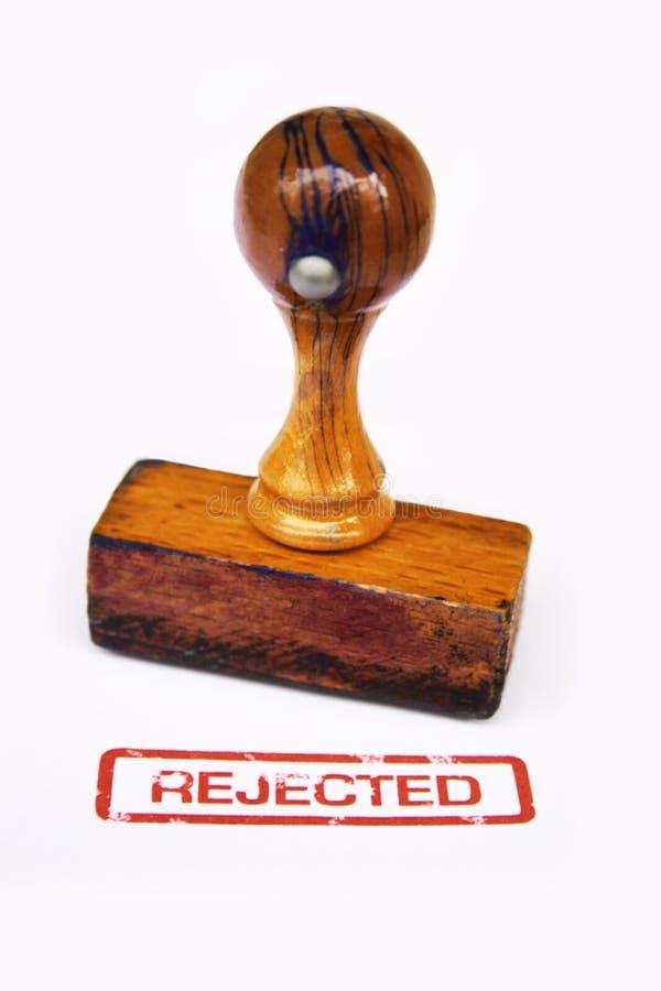Estampille rejetée   photos libres de droits