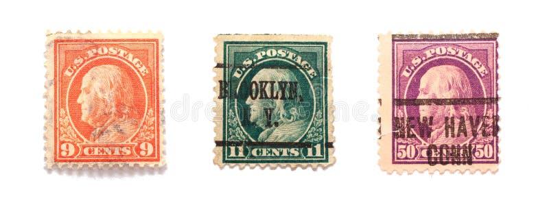 Estampilles De Benjamin Franklin Photo stock