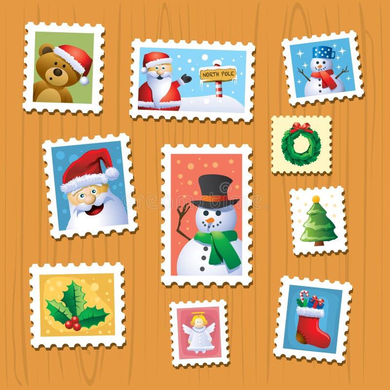 Estampilles de Noël illustration libre de droits