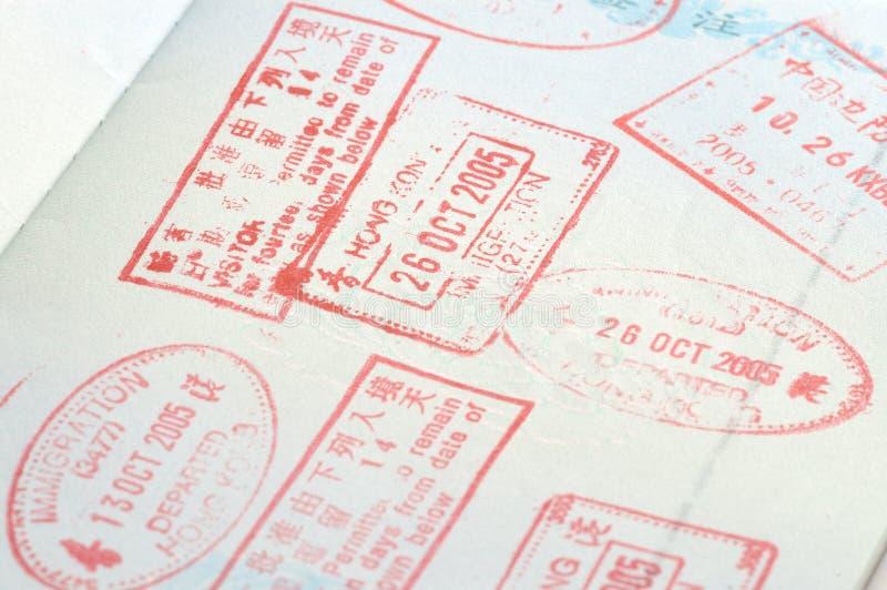 Timbres de passeport images libres de droits