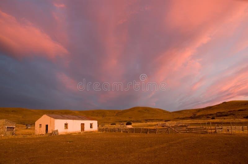 estancia Παταγωνία της Αργεντινή&si στοκ εικόνα με δικαίωμα ελεύθερης χρήσης