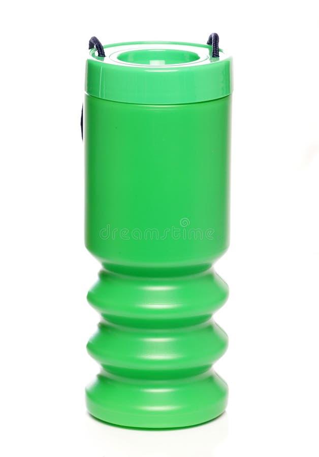 Estanho verde da doação da coleção da caridade imagens de stock royalty free