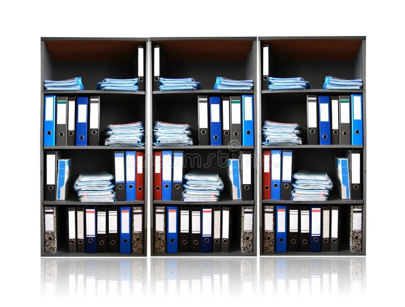 Estante con los documentos fotografía de archivo libre de regalías
