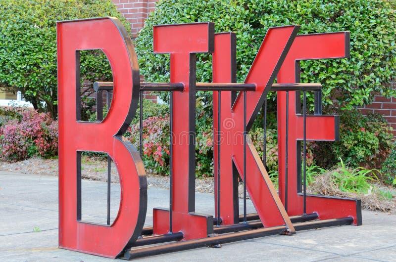 Estante de la bici fotos de archivo libres de regalías
