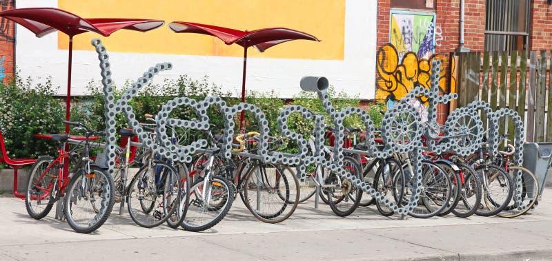 Estante de la bici imagen de archivo