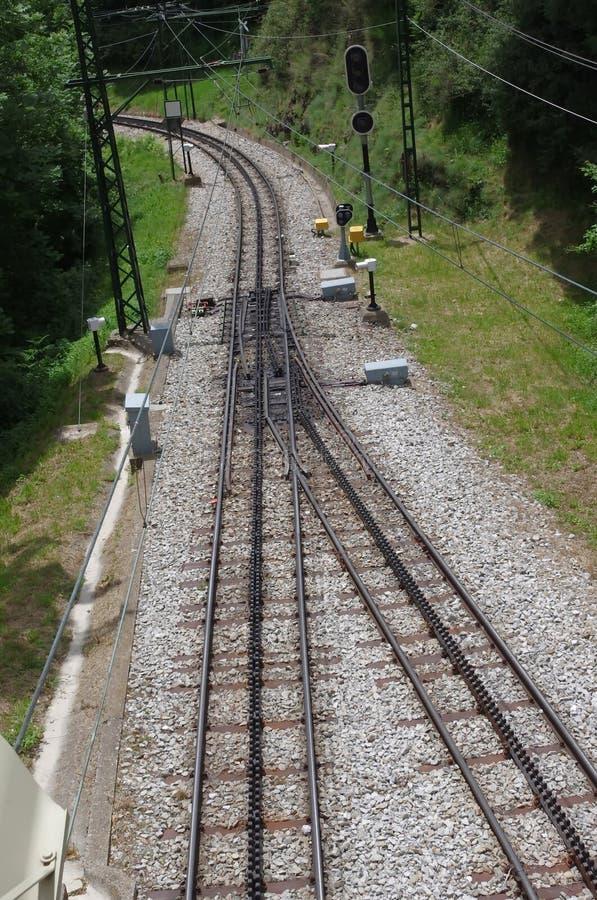 Estante de la pista de ferrocarril fotos de archivo libres de regalías