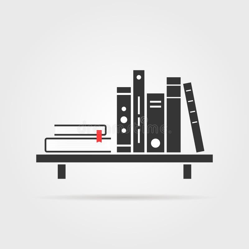 Estante de librería con la sombra ilustración del vector