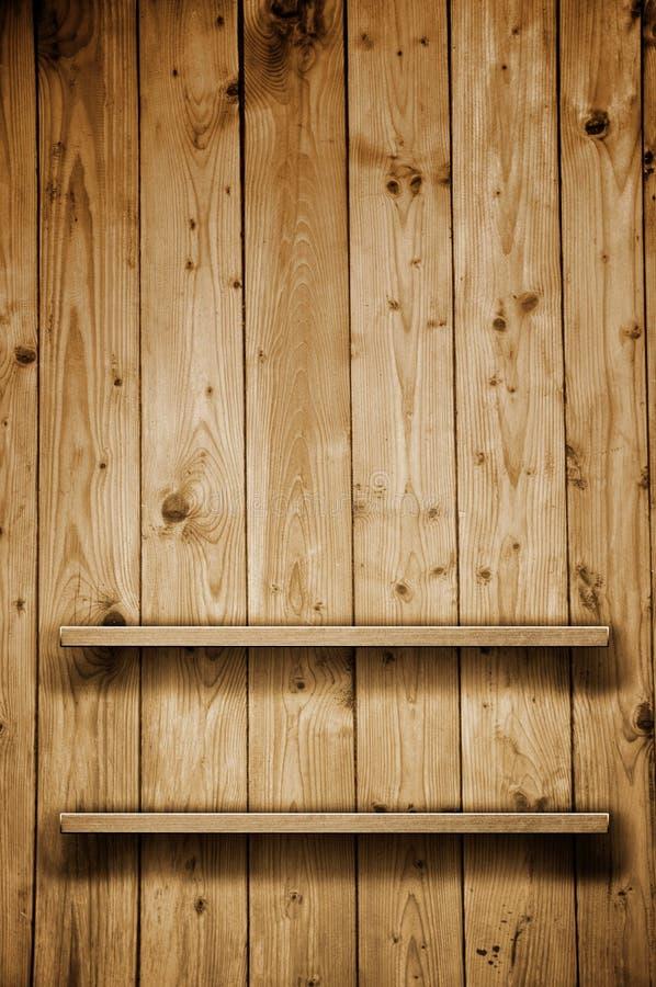 Estante de librería de madera fotografía de archivo libre de regalías