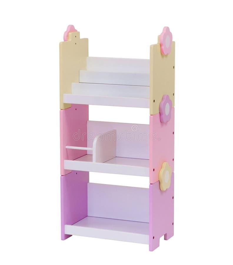 Estante de libro de madera colorido foto de archivo libre de regalías