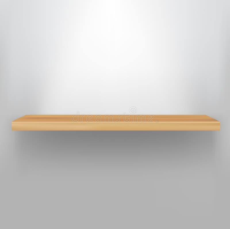 Estante de madera vacío ilustración del vector