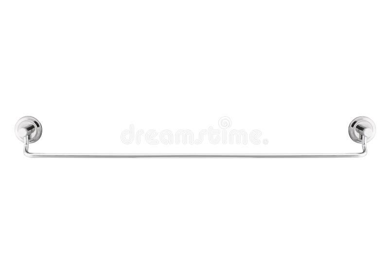 Estante de toalla largo del metal aislado en el fondo blanco imágenes de archivo libres de regalías