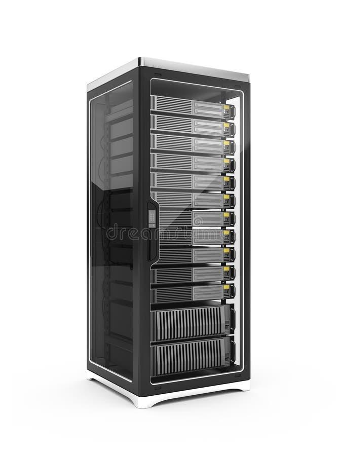 Estante del servidor stock de ilustración
