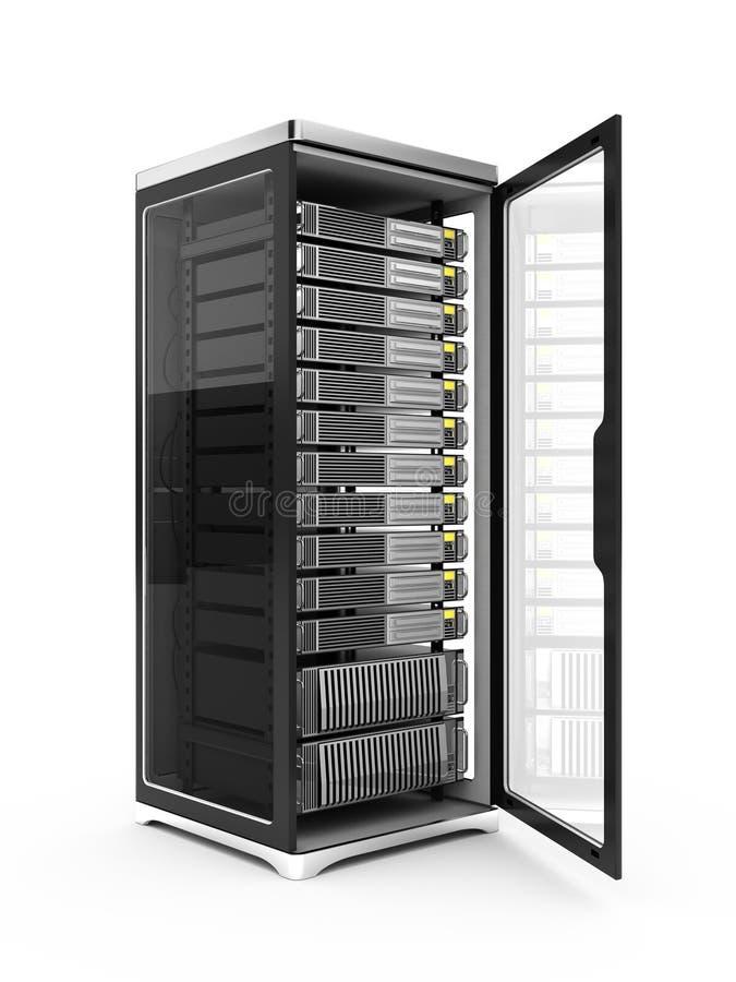 Estante del servidor ilustración del vector