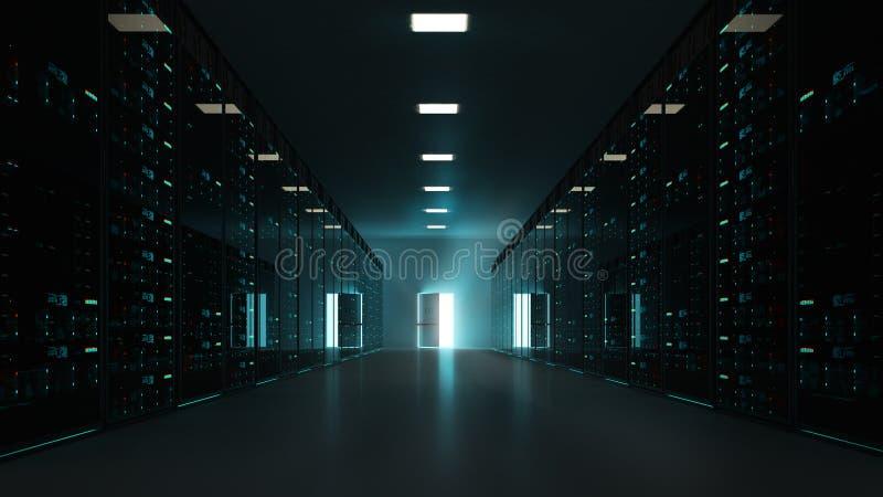 Estante del servidor fotografía de archivo libre de regalías