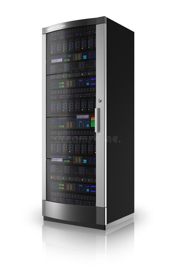 Estante del servidor de red ilustración del vector