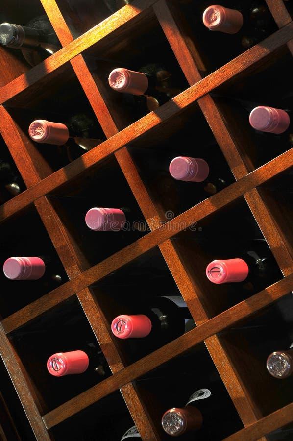 Estante del vino foto de archivo libre de regalías