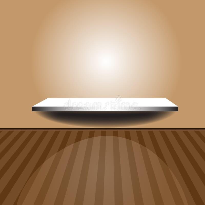Download Estante en una pared ilustración del vector. Imagen de casero - 22200144