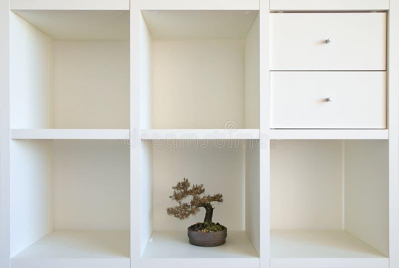 Estante II de los bonsais imagen de archivo