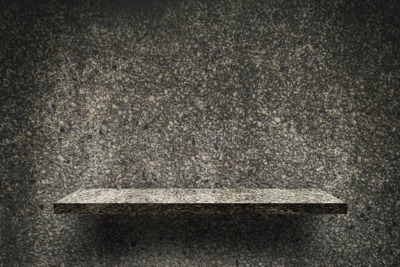 Estante oscuro de la textura del guijarro de la roca para la exhibición del producto stock de ilustración