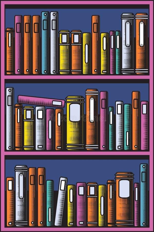 Estante para libros ilustraci n del vector ilustraci n de literatura 15557974 - Estantes para libros ...