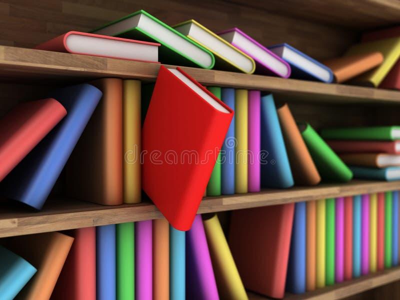 Estante para libros ilustración del vector