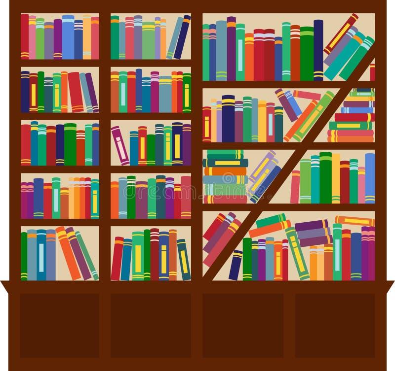 Estante para libros stock de ilustración