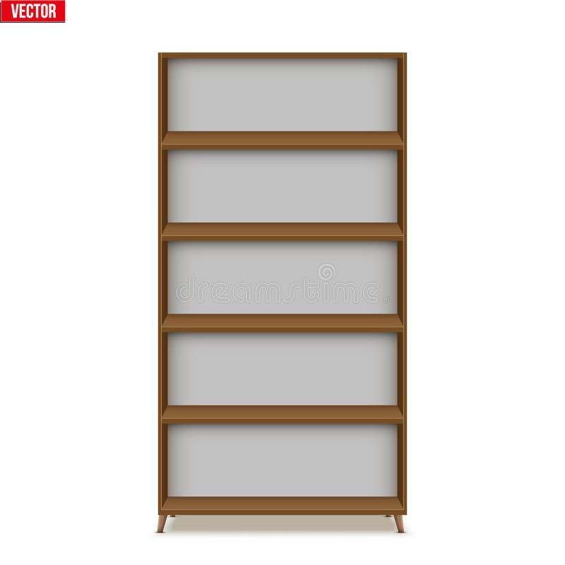 Estante vacío con los estantes o el estante ilustración del vector