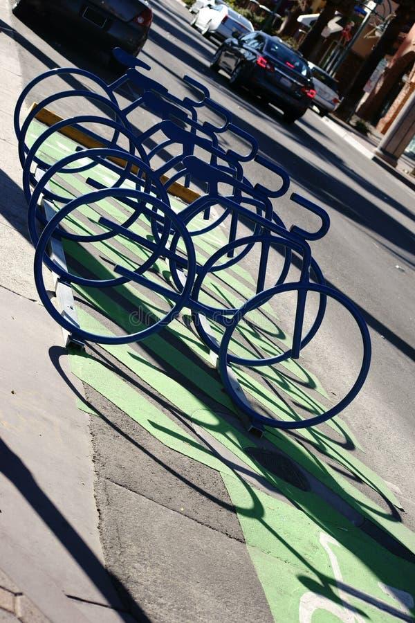Estantes abstractos de la bici imagen de archivo libre de regalías
