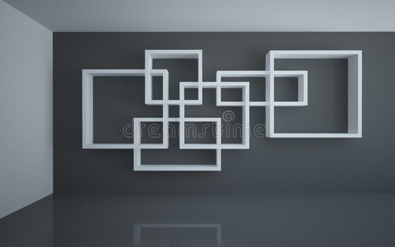 Estantes blancos ilustración del vector