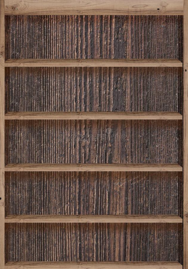 Estantes de madeira fotografia de stock
