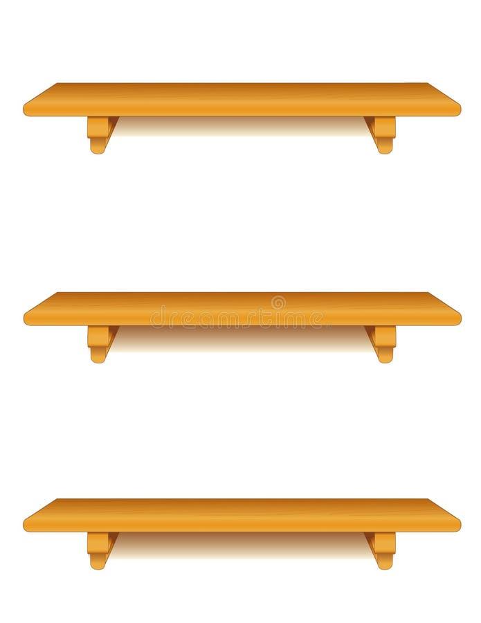 estantes de madera de roble de +EPS, verticales stock de ilustración