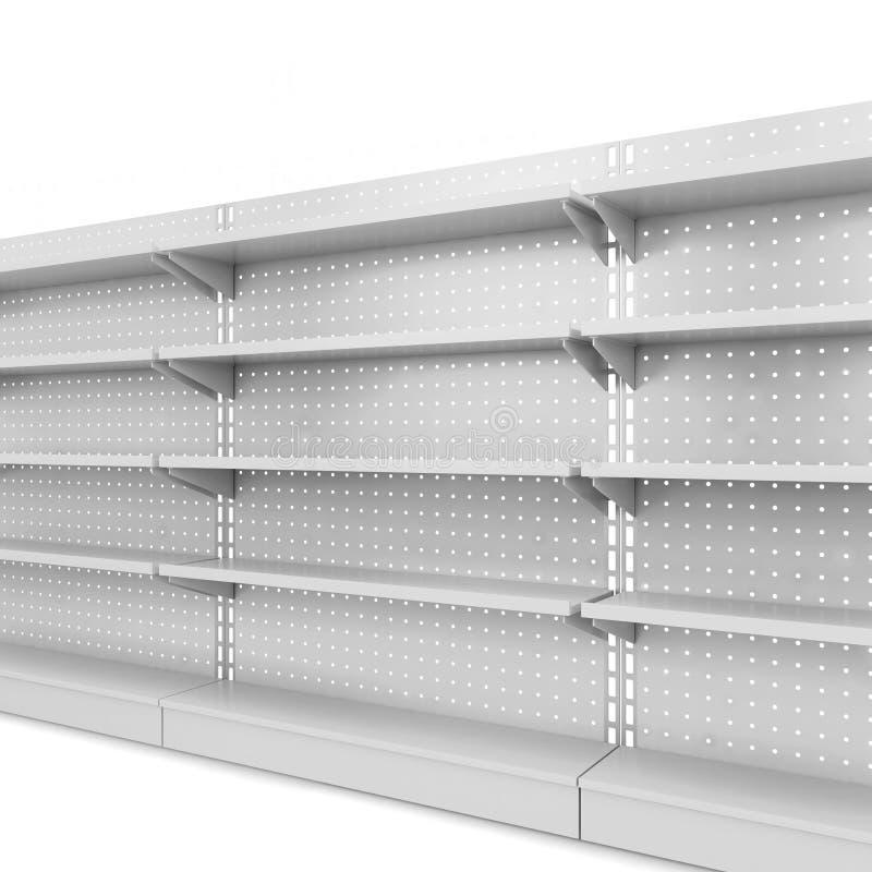 Estantes de una tienda stock de ilustración