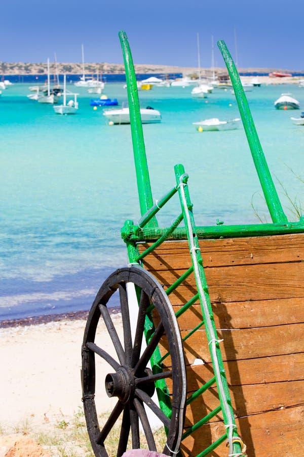 Estany des peix in Formentera lake Mediterranean royalty free stock photo