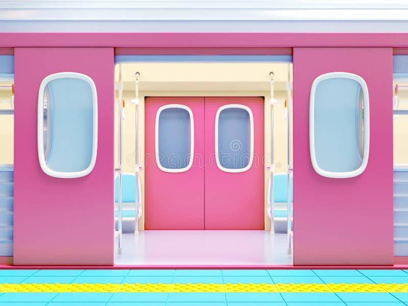 Estar aberto do metro ilustração do vetor
