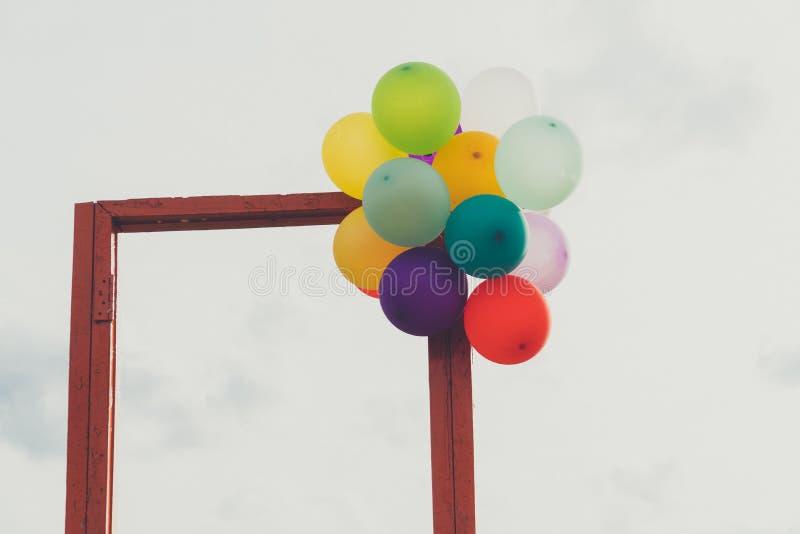 Estar aberto e balão fotografia de stock royalty free