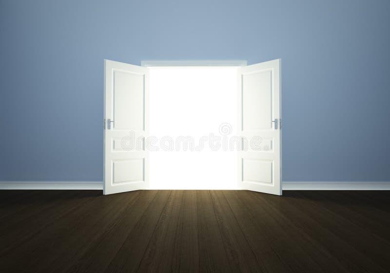 Estar aberto em um quarto vazio ilustração do vetor