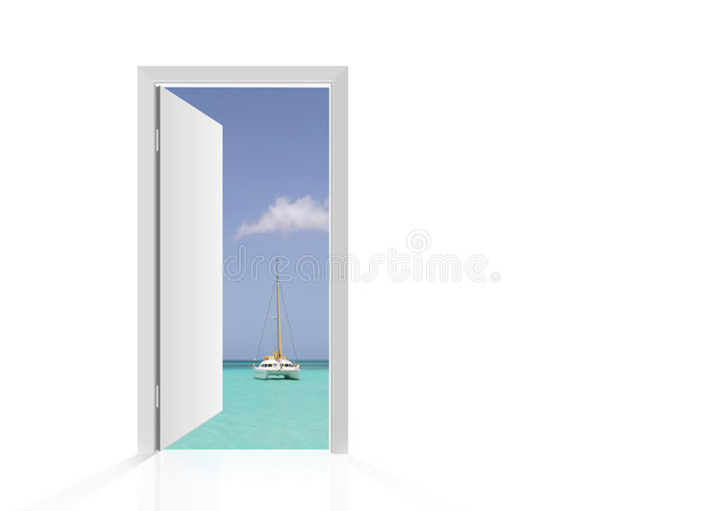 Estar aberto isolado à praia imagem de stock royalty free