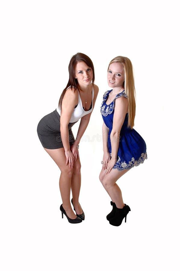 Estar de duas meninas. imagens de stock royalty free