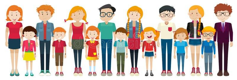 Estar dos adultos e das crianças ilustração royalty free