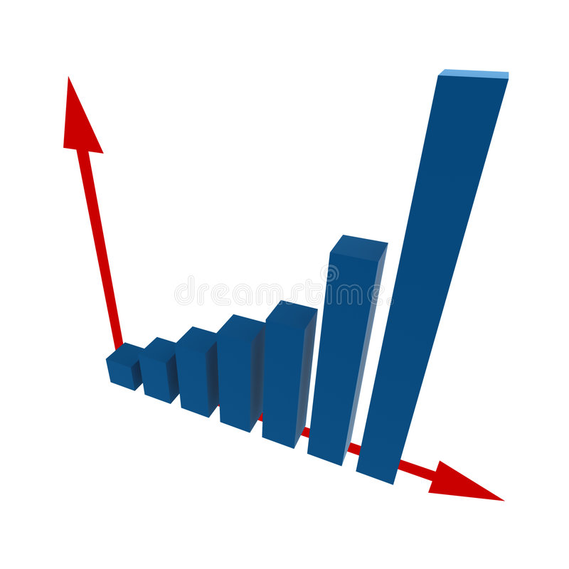estatísticas 3d ilustração stock