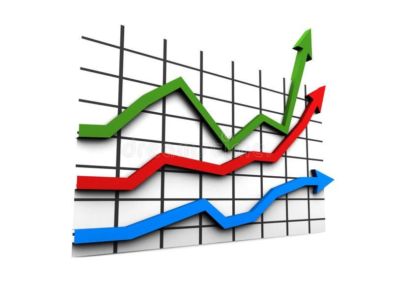 estatísticas 3d ilustração do vetor