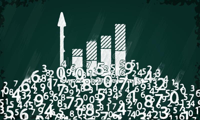 Estatísticas ilustração royalty free